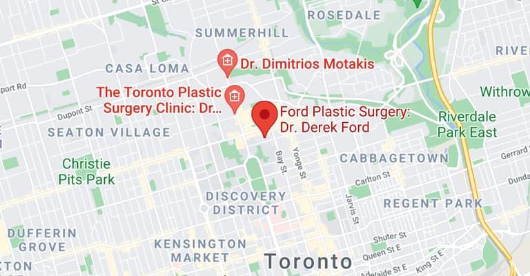 Map of Toronto location